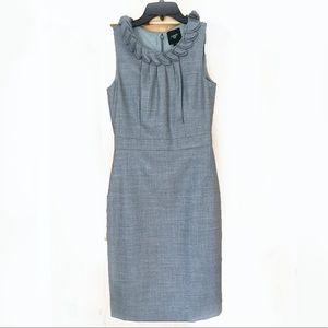 (NWOT) J. Crew Suited Sheath Dress - Light Grey